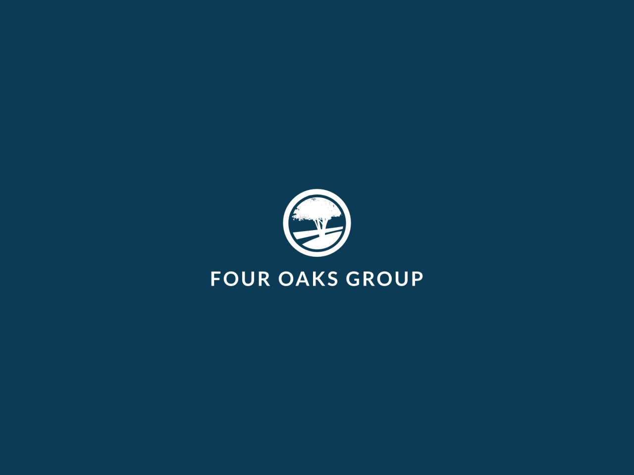 Four Oaks Group Logo Reverse