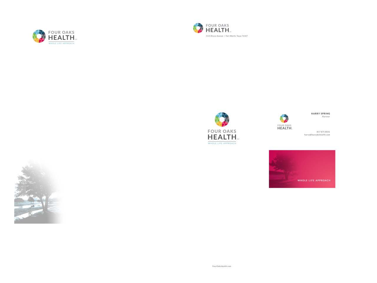 Four Oaks Health Stationery